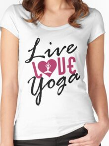 Live, Love, Yoga Women's Fitted Scoop T-Shirt