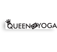 Queen of yoga Canvas Print