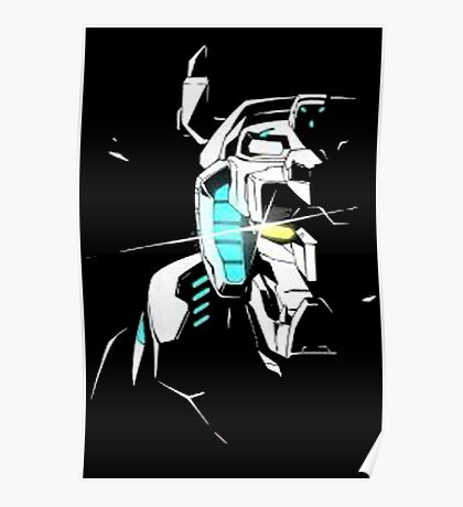 Voltron Shadowed Face Poster