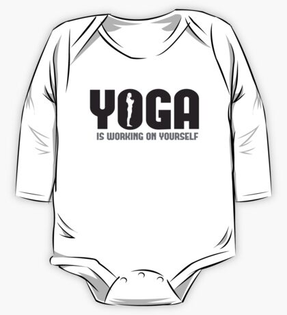 Yoga is working on yourself One Piece - Long Sleeve