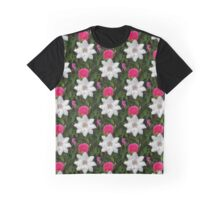 Rose & Clematis Graphic T-Shirt