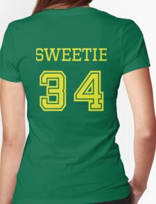 Sweetie 34 - Vintage Retro College Football Sport Team Design For Clothing and Gifts Womens Fitted T-Shirt