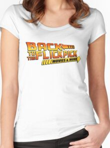 Back To The Flick Pick  Women's Fitted Scoop T-Shirt