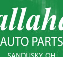 Callahan auto parts distressed Sticker
