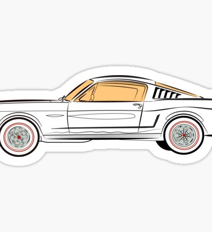 1966 Ford Mustang Fastback Sticker