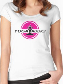 Yoga addict Women's Fitted Scoop T-Shirt