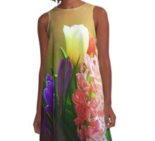 Spring Blooms A-Line Dress