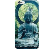 Buddha Sits in a Garden iPhone Case/Skin