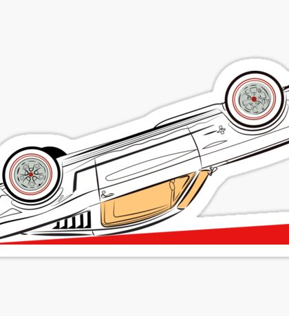 1966 Ford Mustang Fastback (Upside Down) Sticker