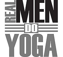 Real men do yoga Photographic Print