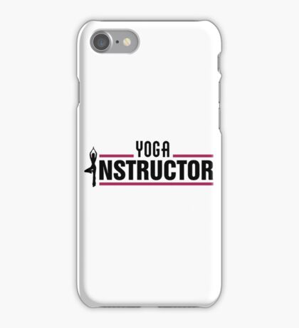 Yoga instructor iPhone Case/Skin