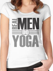 Real men do yoga Women's Fitted Scoop T-Shirt