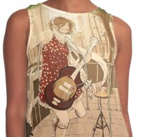 Girl with the guitar Contrast Tank