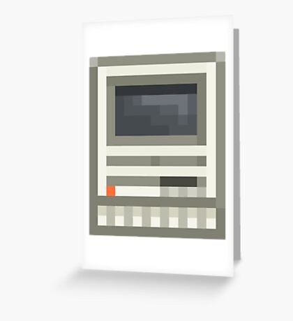 Pixel Mac SE Greeting Card