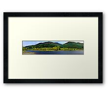 Panorama of Loch Lubnaig in Autumn  Framed Print