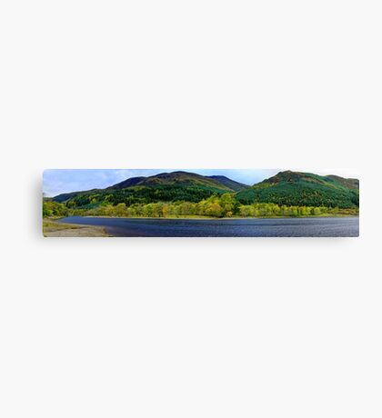 Panorama of Loch Lubnaig in Autumn  Canvas Print
