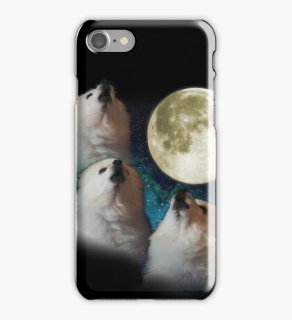 Gabe the Dog - Three Gabe Moon iPhone Case/Skin