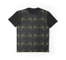 Black Yellow Green Lines Graphic T-Shirt