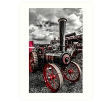 Foster Traction Engine Art Print
