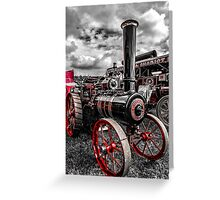 Foster Traction Engine Greeting Card