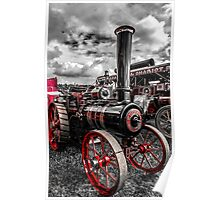 Foster Traction Engine Poster
