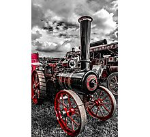 Foster Traction Engine Photographic Print