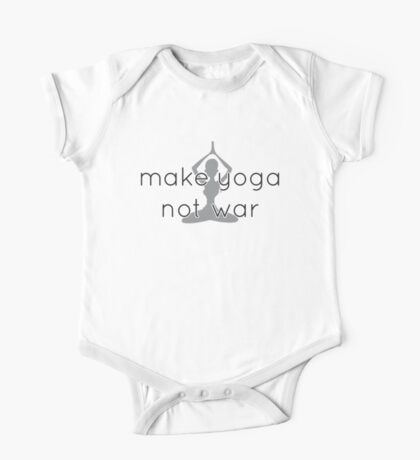 Make yoga not war One Piece - Short Sleeve