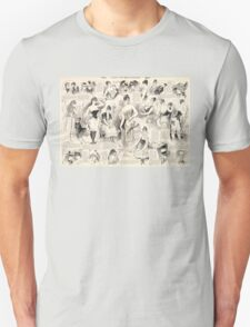 Vintage French Ladies Unisex T-Shirt