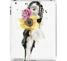 BLOOM - Ink and Charcoal Flower Portrait iPad Case/Skin