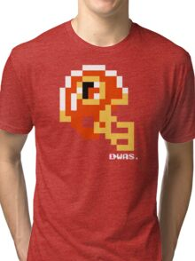 Tecmo Bowl - Washington Redskins - 8-bit - Mini Helmet shirt Tri-blend T-Shirt