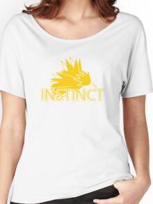 Stylized Team Instinct Print Women's Relaxed Fit T-Shirt