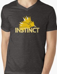 Stylized Team Instinct Print Mens V-Neck T-Shirt