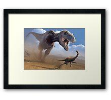 Cretaceous Showdown Framed Print