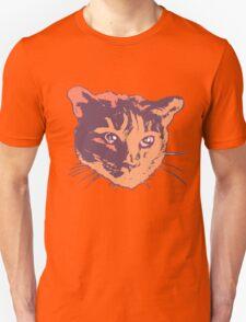 Cool Cat Head Graphic ~ orange Unisex T-Shirt