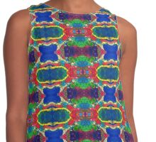Blue Red Yellow Green Abstract Contrast Tank