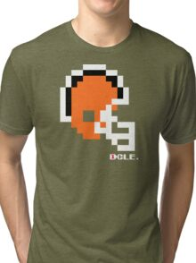 Tecmo Bowl - Cleveland Browns - 8-bit - Mini Helmet shirt Tri-blend T-Shirt