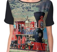 Central Pacific Railroad #60, Jupiter Steam Engine 4-4-0 Chiffon Top