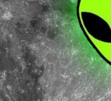 Alien on Moon (Psychedelic) Sticker