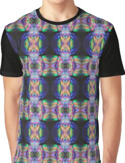 Painting with Light Black Green Pink Purple Yellow Lights Graphic T-Shirt