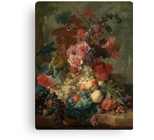 Flowers and Fruit Vintage Canvas Print