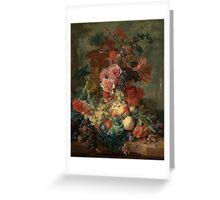 Flowers and Fruit Vintage Greeting Card