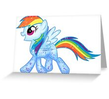 Rainbow Dash Glitter Greeting Card