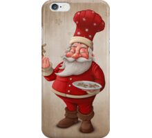 Santa Claus pastry cook iPhone Case/Skin