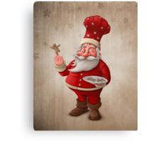 Santa Claus pastry cook Canvas Print