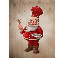 Santa Claus pastry cook Photographic Print
