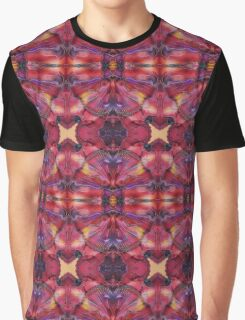 Symmetrical Fractal  Pink Yellow Pink Red Graphic T-Shirt