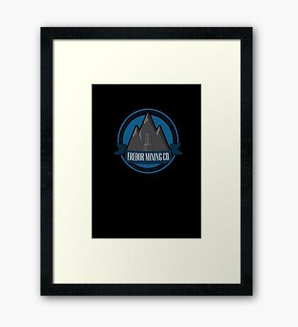 Erebor Mining Company Framed Print