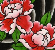 Traditional Japanese peony flower Sticker