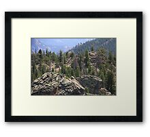 Rocks in the Rocky Mountains Framed Print