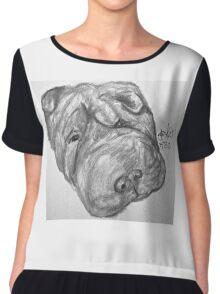 Whirley the dog Chiffon Top